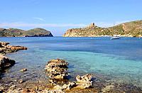 Cabrera Archipelago National Park, Natural harbor. Majorca, Balearic Islands, Spain