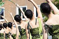 Dancers from Taiwan Youth Dance Company performing at Billingham International Folklore Festival of World Dance. Billingham, England, United Kingdom.