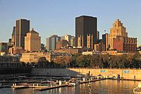 Canada, Quebec, Montreal, skyline, downtown, Old Port,.