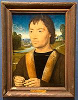 ´Portrait of a young man with rosary´ by Hans Memling in National Museum in Copenhagen, Denmark