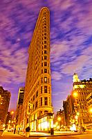 Flatiron Building, Brodway and Fifth Avenue, Midtown, Manhattan, New York, New York City, USA.