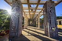 Parque Las Americas in the historic center, Merida, Riviera Maya, Yucatan Province, Mexico, Central America.