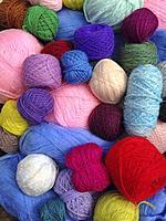 Yarn balls.