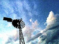 Windmill and clouds.