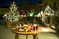 Austria, Salzburgerland, Salzburg, Schloss Hohensalzburg castle, Christmas Market, jam tasting.