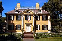 Historic Henry Wadsworth Longfellow House in Cambridge Massachusetts.