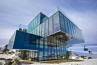 Austria, Tyrol, Otztal, Solden, Gaislachkogl ski mountain, Gaislachkogl Summit, elevation 3058 meters, Ice Q gourmet restaurant.