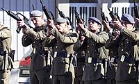 Shots of a battalion of the Spanish army in memory of Idoia Rodriguez, soldier killed in Afghanistan. Friol Lugo