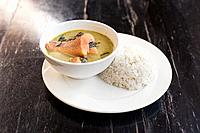 Khmer Amok with Fish, a traditional Cambodian dish.