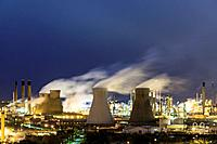 View of Grangemouth refinery operated by INEOS on River Forth in Scotland, United Kingdom.