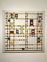 Broadway boogie woogie, 1942, by Piet Mondrian, Dutch, 1872-1944, Oil on canvas, MOMA, Museum of Modern Art, New York City