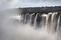 The Devil´s Throat is a set of waterfalls 80 m high that detach towards a narrow gorge, is the largest flow of Iguazu Falls, and the highest flow in t...
