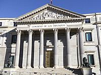 Congress of deputies. Madrid, Spain.