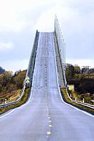 Andoy bridge, Hinnøya island, Archipelago of Vesterålen, county of Nordland, Norway, Europe.