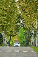Promenade des Ducs, Lauzun, Lot-et-Garonne Department, New Aquitaine, France.