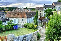 Rue des Terasses, Lauzun, Lot-et-Garonne Department, New Aquitaine, France.