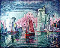 Paul Signac - . The harbour at La Rochelle. - . 1921. . .