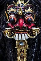 Balinese mask of the evil mythical figure Rangda. Bali, Indonesia.
