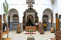Morocco, Marrakech-Safi (Marrakesh-Tensift-El Haouz) region, Marrakesh. Heritage Museum, housed in a restored historic riad.