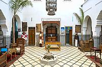 Morocco, Marrakech-Safi (Marrakesh-Tensift-El Haouz) region, Marrakesh. Heritage Museum, housed in a restored historic riad.