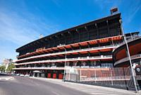 Valencia football club stadium exterior in Valencia, Spain.