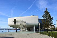 Botin Center Museum Art and Culture. Botin Foundation, architect Renzo Piano. Santander, Cantabrian Sea, Cantabria, Spain, Europe.