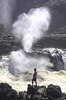 Spouting Horn blowhole, Cape Perpetua, Oregon, USA.