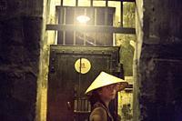 Tourist in Hoa Lo Prison Museum, Hanoi.