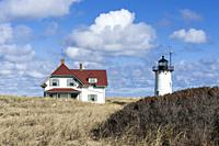Race Point lighthouse, Provincetown, Cape Cod, Massachusetts, USA.