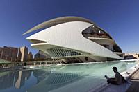 Valencia, Spain. October 25, 2017: The Palau de les Arts Reina Sofia is the opera house of Valencia, and home of the Orchestra of the Valencian Commun...