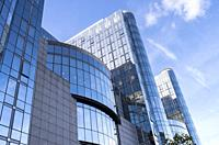 Paul-Henri Spaak Building, European Parliament, Brussels, Belgium.