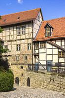 Castle and Monastery buildings on Schlossberg in Quedlinburg, Saxony-Anhalt, Germany.