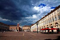 Piazza San Carlos in Turin. Italy.