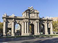 Puerta de Alcalá. Madrid, Spain.