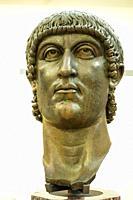 Constantine. Age of constantine, Probably 330-337 AD. Gilded Bronze. Musei Capitolini - Rome, Italy.