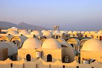 Spheric roofs of a resort - Dahab, Sinai Peninsula, Egypt.