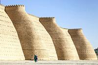The Ark Fortress Walls, Bukhara, Uzbekistan.