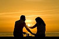 cuba, havana, sunset on the malecon, love.