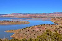 Abiquiu lake (man-made), New Mexico.