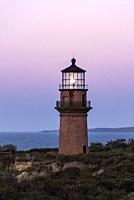 Gay Head Lighthouse, Aquinnah, Martha's Vineyard, Massachusetts, USA.