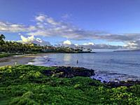 View from the famed boardwalk in Wailea, Maui, Hawaii
