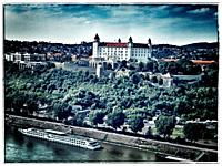 Bratislava castle is located in Bratislava, the capital of Slovakia in Europe.