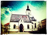 The Church of St. Mark is the parish church in the upper town (Gornji Grad) from Zagreb, Croatia, Europe.