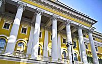 Alexandrinsky Theatre. Ostrovskogo Square, 6, St. Petersburg, Russia. This is the oldest national theatre in Russia. Established August, 30 1756.