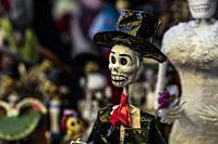 Calaveras, Dia de Los Muertos, mercado San Angel. Mexico City.