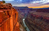 Toroweap Overlook at dawn, Grand Canyon National Park Arizona, USA. It's 3000 feet above the Colorado River, straight drop down from the top.