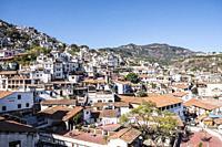 Taxco de Alarcón, Guerrero, Mexico. Panoramic view of the city.