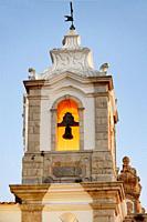 Belltower of Santo Antonio church, historic part of Lagos, Algarve, Portugal, Europe