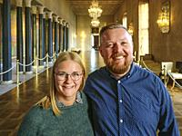JSTOCKHOLM, SWEDEN Jonas Sohlberg (kitchen) and Ulrika Sandström (facilities) at the Stockholm City Hall are the chief organizers for the Nobel Prize ...
