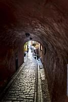 Atmospheric Medieval street, Gamla stan, Stockholm, Sweden.